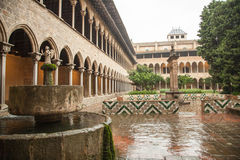 Cloister of Pedralbes Monastery at Barcelona Stock Image
