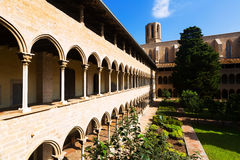 Cloister of Pedralbes Monastery at Barcelona Royalty Free Stock Photography