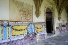 Cloister in Portugal Stock Photography