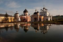 Cloister in Russia. Evening in Russian cloister Danylova Pustyn. Данилова Пустынь. Moscow suburbs Stock Photos