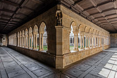 Cloister of the S. Bento monastery in Santo Tirso Royalty Free Stock Images
