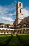 Cloister of San Domenico, Perugia, Italy. Royalty Free Stock Photo