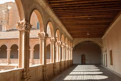 Cloister of San Esteban - Salamanca Royalty Free Stock Photography