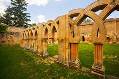Cloister of San Juan de Duero Monastery in Soria Royalty Free Stock Photo