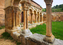 Cloister of San Juan de Duero Monastery in Soria. Ruined cloister of San Juan de Duero Monastery in Soria. Spain royalty free stock images
