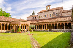 Cloister of San Zeno Cathedral in Verona Stock Photos