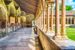 Cloister of San Zeno Cathedral in Verona Stock Image