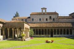 The cloister of San Zeno, Verona. The cloister of San Zeno, Verona-Italy Royalty Free Stock Image