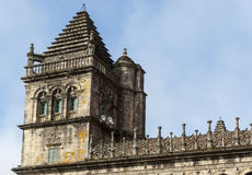 Cloister of Santiago de Compostela Cathedral (Spain). Tower of the cloister of Santiago de Compostela Cathedral Royalty Free Stock Photography
