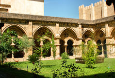 Cloister of Se Velha in Coimbra Royalty Free Stock Images