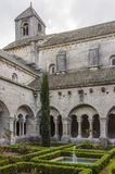 Cloister of Senanque Abbey, Vaucluse, Gordes, Provence, France stock image