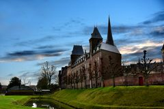 Cloister in Sittard. Old cloister in Sittard Geleen   and part of the city wall round  the historic old town,  a netherlands town in my neighborhood Stock Photos