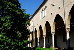 Cloister of St. Anthony's Basilica in Padua in the Veneto (Italy) Stock Photography