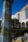 Cloister St. Chiara. Cloister of St. Chiara church and monastery, Naples, Italy stock photos