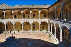 Cloister of St. Francesco Basilica. Assisi. Umbria. Italy. Stock Photo