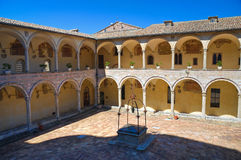 Cloister of St. Francesco Basilica. Assisi. Umbria. Italy. Stock Image