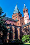 The cloister of the St. Martin`s Cathedral in Mainz, Germany Stock Images