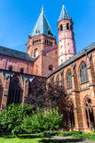 The cloister of the St. Martin`s Cathedral in Mainz, Germany Stock Image