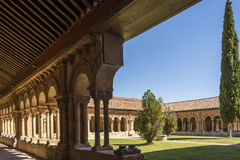 Cloister of St. Pedro in Soria, Spain Royalty Free Stock Images