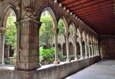 Cloister of sta's Anna church. Cloister of the church of Santa Ana, Barcelona Stock Images