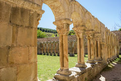 Cloister and tower of St. Pedro in Soria, Spain Stock Images