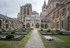 Cloister of Treviri Cathedral. A view of the Treviri Cathedral complex cloister Stock Photography