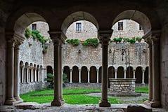 The Cloister Of Valvisciolo Abbey Sermoneta Italy Stock Image