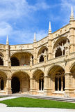 Cloister yard - Mosteiro de Jeronimos Royalty Free Stock Photography