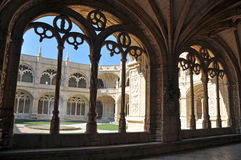 Cloistered courtyard Royalty Free Stock Photo