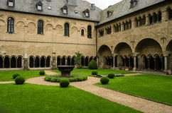 Cloistered courtyard. Of the Muenster Basilica in Bonn, Germany Stock Photo