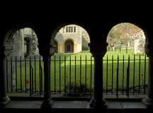 Cloisters. Canterbury cathedral religion religious architecture calm peace Stock Photo