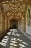 The Cloisters. A peaceful view within the Cloisters of a Cathedral Stock Photo