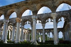 Cloisters. Impressive cloisters built in France XII century and brought to Paradise Island, The Bahamas Stock Images