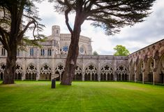 Salisbury Cathedral cloisters Wiltshire South West England UK stock image