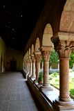 The Cloisters Arches NYC. Arches in the inner garden at the Cloisters museum in New York City Stock Photos