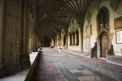 Cloisters at Canterbury Cathedral Royalty Free Stock Photo