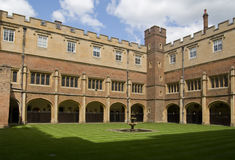 Cloisters at Eton College, Berkshire. Cloisters at the famous public school, Eton College, Berkshire.  Founded by King Henry VI in 1440 Royalty Free Stock Photos