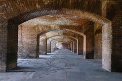 cloisters forten jefferson royaltyfria bilder