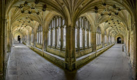 Cloisters at Lacock Abbey, Wiltshire, UK Stock Images