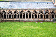 Cloisters at Lincoln Cathedral Stock Photography