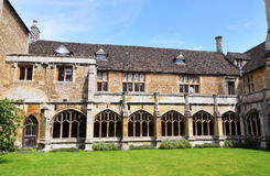 The Cloisters of a Medieval English Abbey Stock Photo