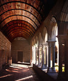 The Cloisters in New York. Column details at the Cloisters in New York Royalty Free Stock Photo