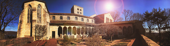 The Cloisters in New York. Outside garden view of  the Cloisters in New York Royalty Free Stock Images