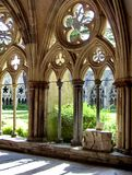 The Cloisters at Salisbury Cathedral stock images