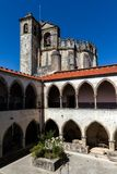 Cloisters of the Tomar`s Knights Templar convent Stock Photography