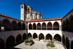 Cloisters of the Tomar`s Knights Templar convent Stock Photo