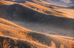 Clolor утра в восходе солнца прерии в Wulanbutong в Внутренней Монголии стоковое изображение