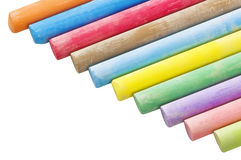 Clolored chalks Stock Images