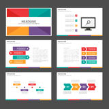 Clolorful Infographic elementów ikony prezentaci szablonu płaski projekt ustawia dla reklamowej marketingowej broszurki ulotki Fotografia Stock