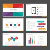 Clolorful Infographic elementów ikony prezentaci szablonu płaski projekt ustawia dla reklamowej marketingowej broszurki ulotki Obrazy Royalty Free